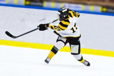 Fototapete Eishockeyspieler - Klapsschuß