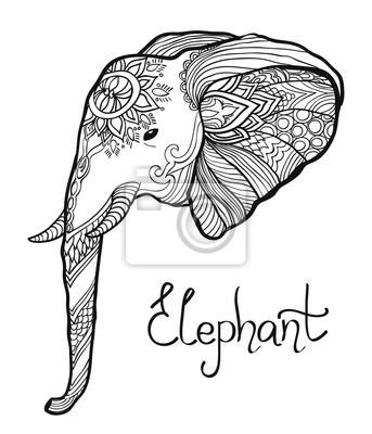 malvorlage elefanten kopf | coloring and malvorlagan