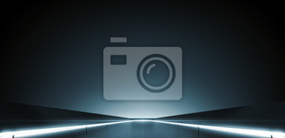 Fototapete Elegant futuristic light and reflection with grid line background. 3D rendering.