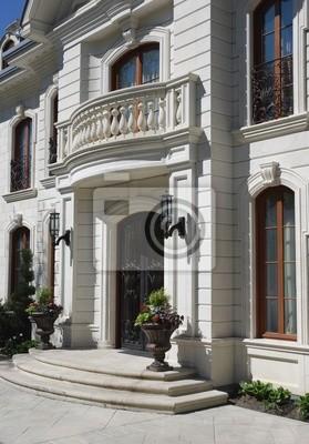 Elegant Hauseingang Mit Balkon Fototapete Fototapeten Eingang