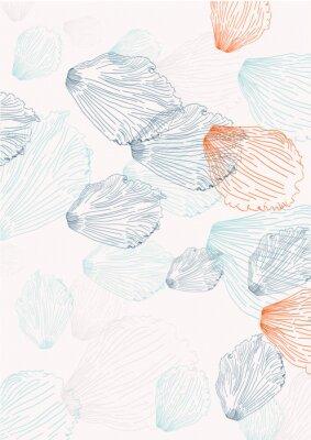 Fototapete Elegant Hintergrund mit Blütenblätter