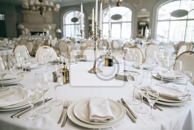 Elegant Hochzeit Empfang Weissen Tisch Anordnung Restaurant