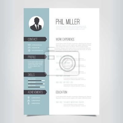 Fototapete: Elegant resume template