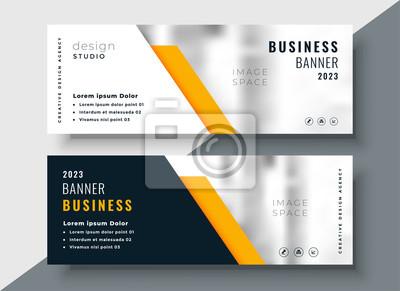 Fototapete elegant yellow professional business banner template