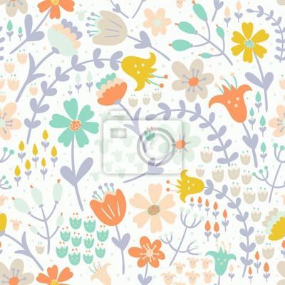 Elegante Blumen nahtlose Muster. Vector Textur in Pastell Tender Farben große Auswahl für Verpackung, Textil-, Tapeten-, Tuch-Design und andere Muster füllt