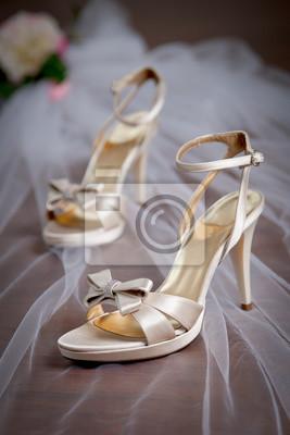 Elegante Hochzeitsschuhe Mit High Heels Fototapete Fototapeten