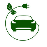 Elektrische auto-symbol vektor-illustration fototapete • fototapeten ...