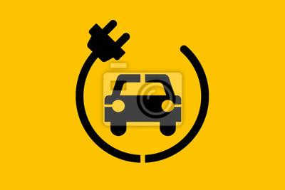 Elektrische auto-symbole fototapete • fototapeten echo, spy, Hybrid ...