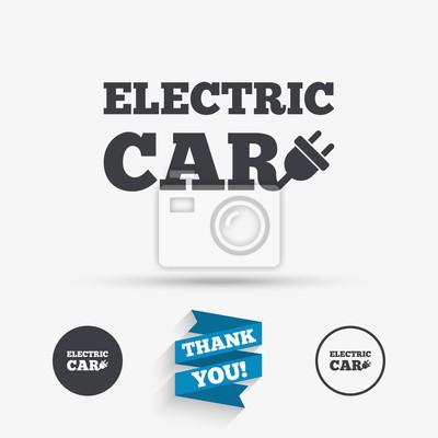Elektrische auto-zeichen-symbol. elektrische fahrzeug-symbol ...