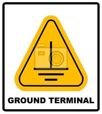 Elektrische erdung zeichen. fototapete • fototapeten bedeuten ...