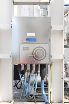Elektrischen steuerkasten außen fototapete • fototapeten Strom ...