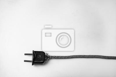 Elektrischer stecker mit draht fototapete • fototapeten Computer ...