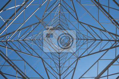 Fototapete Elektrizität Aufsatz In Kalifornien. Innenansicht eines Elektrizitätsaufsatzes in Kalifornien, der nachhaltige Energie von der Windmühlenerzeugung der stützbaren Energie trägt.