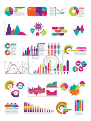 Elemente der infografik mit flußdiagramm. vektor-statistik-diagramme ...