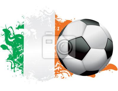 Elfenbeinküste-Fußball-Schmutz-Entwurf