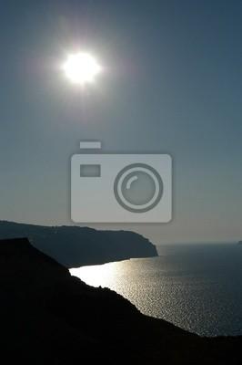Ende der Sonne in Santorini