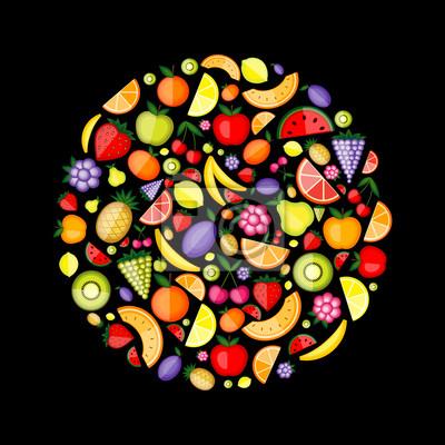 Energie Früchte, Rahmen für Ihr Design