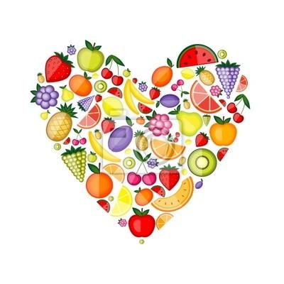 Energie Obst Herzform für Ihren Entwurf