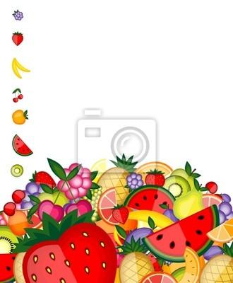 Energie-Obst-Hintergrund für Ihr Design