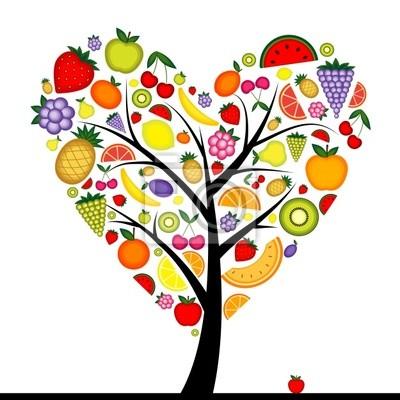 Energie-Obstbaum Herzform für Ihren Entwurf