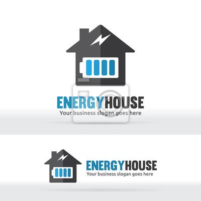 Energiehaus. Batteriehaus. Energiehaus. Elektrisches Haus .