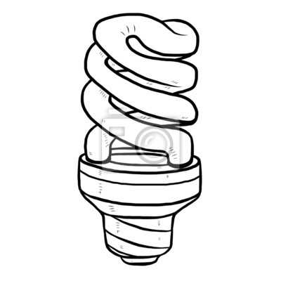 Fototapete Energiesparlampe