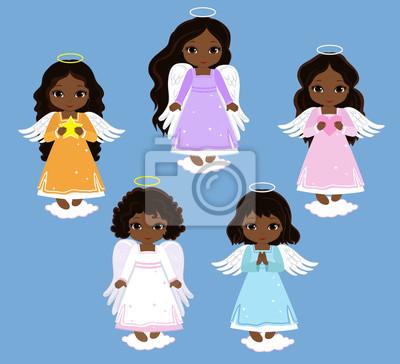 Engel Digital Clipart Set Engel Mädchen Am Himmel Taufe