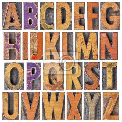 Englisch Alphabet in Holz-Typ