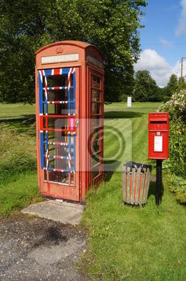 Englisch Briefkasten Und Traditionelle Phone Box Fototapete
