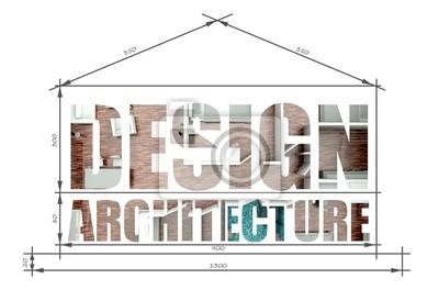 Entwerfen Architektur In Der Modernen Haus Blaupause Fototapete