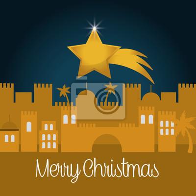 Entwurf der frohen Weihnachten