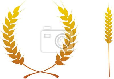 épi Blé Picto Trophée Qualité Illustration Vecteurs 3 Fototapete