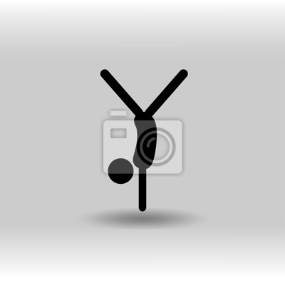 Eps 10 vector künstlerische gymnastik boden exersize sport-symbol ...