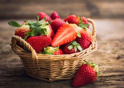 Fototapete Erdbeeren im Korb