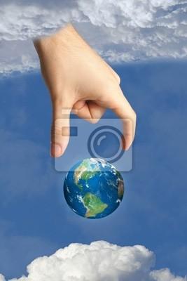 Erde im Himmel und die Hand Gottes