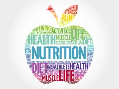 Fototapete Ernährung Apfel Wort Wolke, Gesundheit Konzept