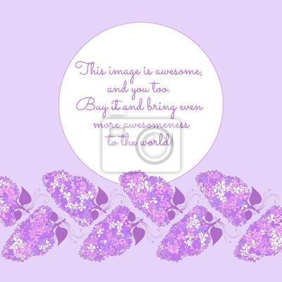 Erstaunliche Zweige der lila Blumen in den violetten Farben