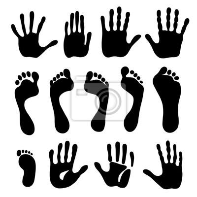Erzeugung Von Hand Und Fußabdrücken Fototapete Fototapeten