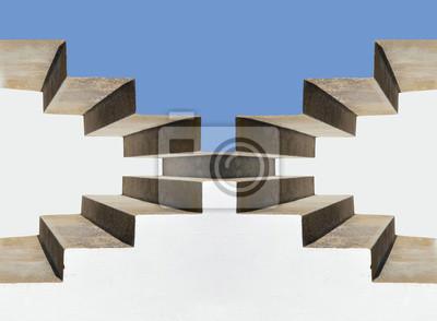 Escaleras Cielo Escalones Subida Peldaños Arquitectura