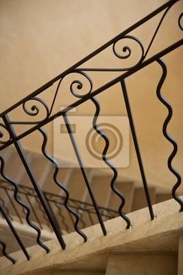 Fototapete: Escalier, ferronerie, fer forgé, rampe, handwerklichen,  immobilier