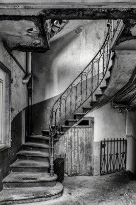 Fototapete escalier vétuste