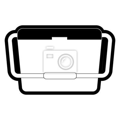 Essen kühler symbol fototapete • fototapeten Tiefkühltruhe ...