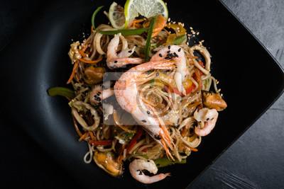 Fototapete: Essen lebensmittelzutaten und kochprozess. asiatische küche.