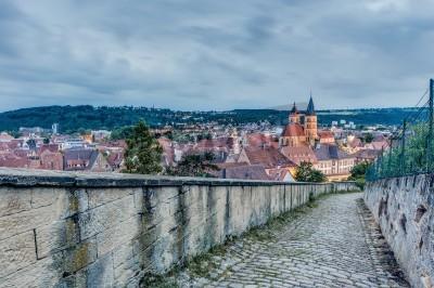 Esslingen Am Neckar Aussicht Vom Burgsteige Zum Schloss Burg
