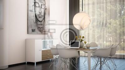 fototapete esszimmer, esszimmer fototapete • fototapeten esstisch, appartment, innenräume, Design ideen