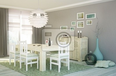 Esszimmer im shabby chic look fototapete • fototapeten appartment ...