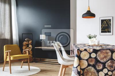 fototapete esszimmer, esszimmer mit tisch mit tischdecke fototapete • fototapeten, Design ideen