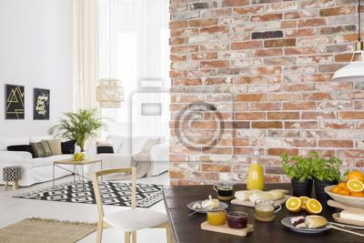 Fototapete Esszimmer Offen Zum Wohnzimmer