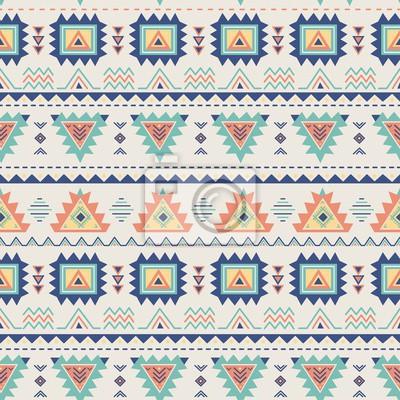 Ethnische nahtlose Muster. Aztec geometrische Textur im Vektor. Große Wahl für Tuchentwurf, Tapete, Gewebe, Verpackung und andere Musterfüllungen