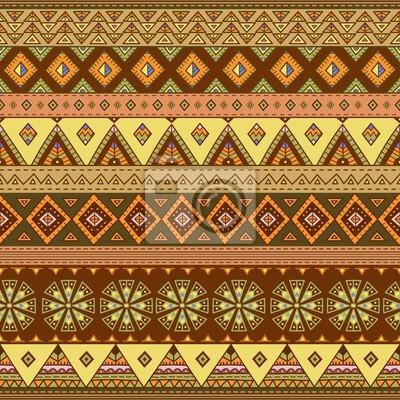 Ethnische nahtlose Muster. Bunte Grenze Hintergrund Textur. Große Wahl für Tuchentwurf, Tapete, Verpackung und andere Musterfüllungen. Abbildung